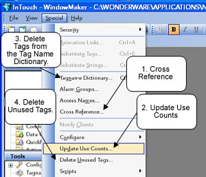 intouch scada intouch hmi deleting unused tags fro